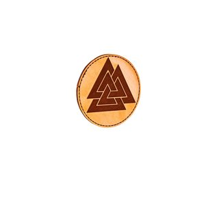 Valknut leather patch natural (sand colored)