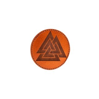 Valknut Leatherpatch  Brown