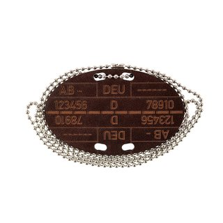 md-textil leather Bundeswehr dog tag