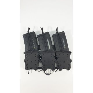 Kydex 3er Magazinhalter Black