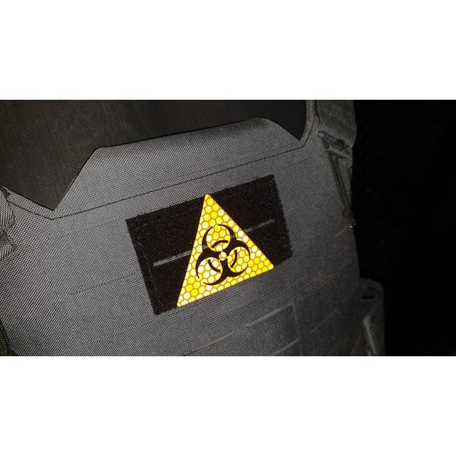 md-textil Reflexionspatch Biohazard